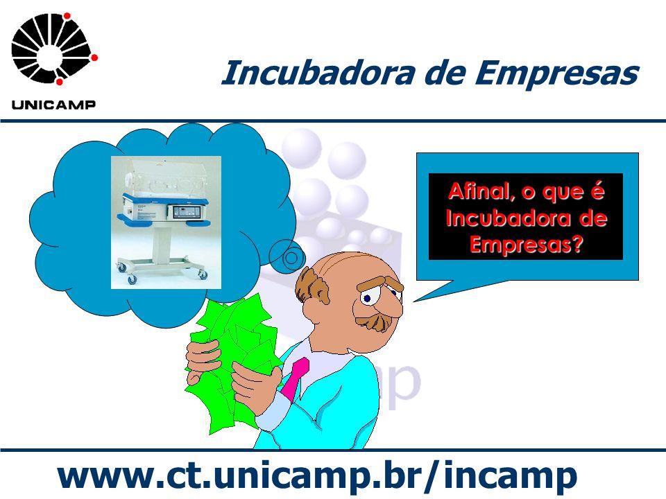 www.ct.unicamp.br/incamp Incubadora de Empresas Afinal, o que é Incubadora de Empresas?