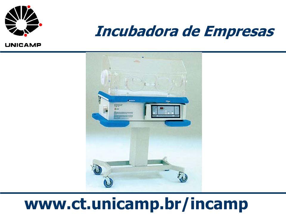 www.ct.unicamp.br/incamp Incubadora de Empresas