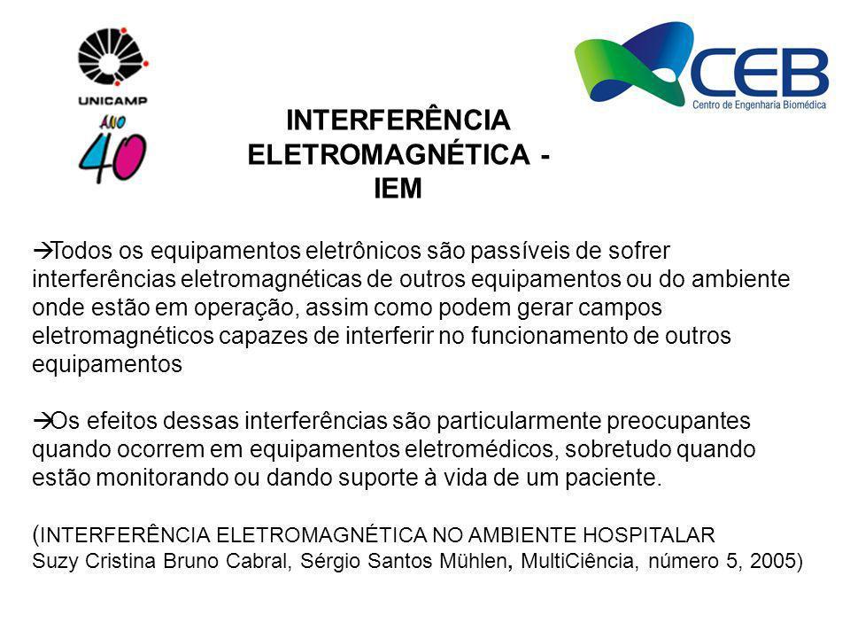 Todos os equipamentos eletrônicos são passíveis de sofrer interferências eletromagnéticas de outros equipamentos ou do ambiente onde estão em operação