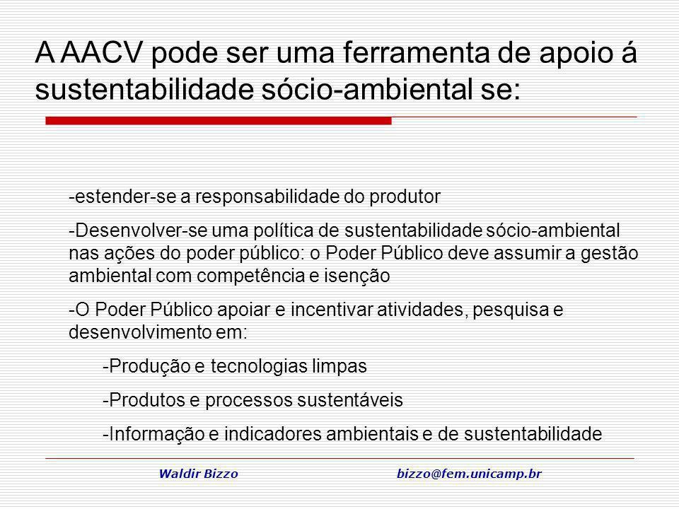 Waldir Bizzo bizzo@fem.unicamp.br -estender-se a responsabilidade do produtor -Desenvolver-se uma política de sustentabilidade sócio-ambiental nas açõ