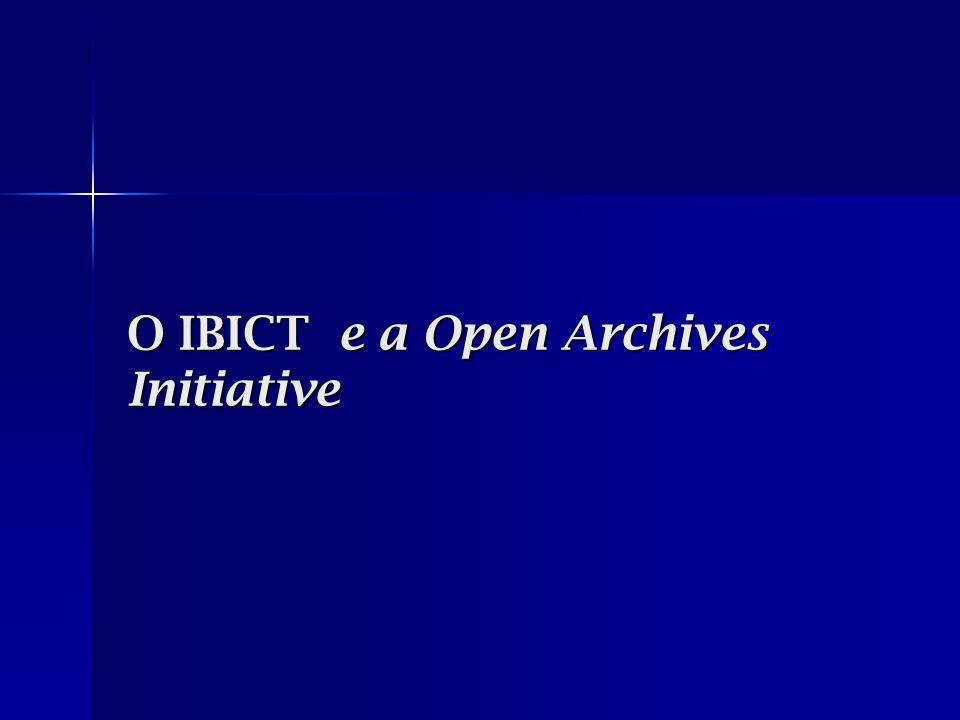 Ações empreendidas pelo IBICT Pesquisa e acompanhamento do OAI desde 2000; Pesquisa e acompanhamento do OAI desde 2000; Implantação da Biblioteca Digital de Teses e Dissertações (BDTD); Implantação da Biblioteca Digital de Teses e Dissertações (BDTD); E-prints (Diálogo Científico); E-prints (Diálogo Científico); Open Journal Systems; Open Journal Systems; Open Conference System – em parceria com o Centro de Informações Nucleares da CNEN; Open Conference System – em parceria com o Centro de Informações Nucleares da CNEN; DSPACE, em parceria com a Portcom/USP, uma rede de informação na área de comunicação.
