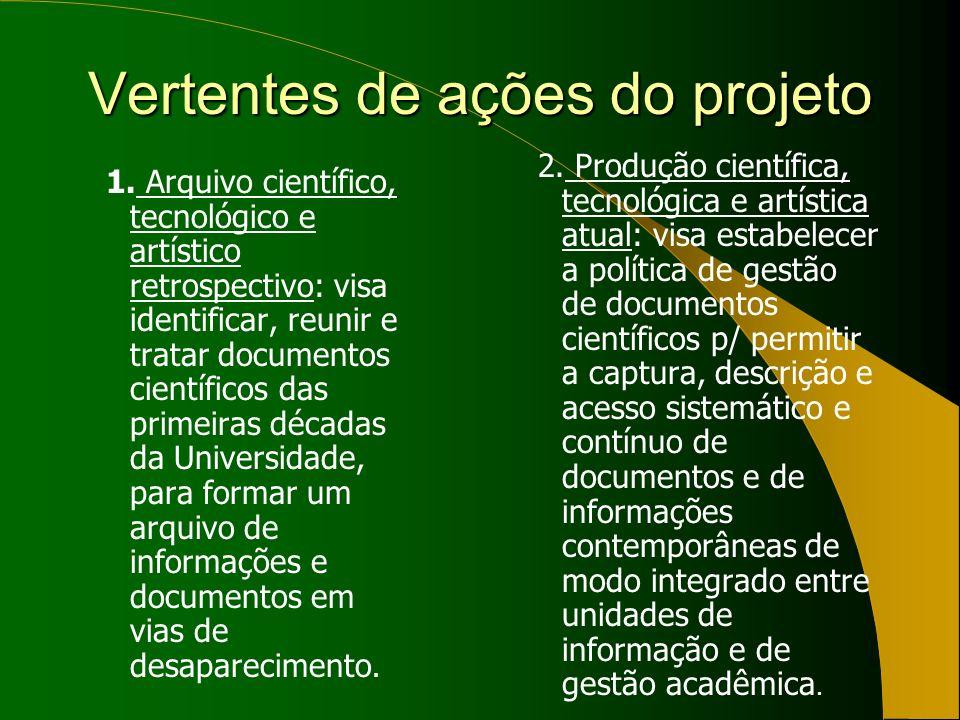 Vertentes de ações do projeto 1.