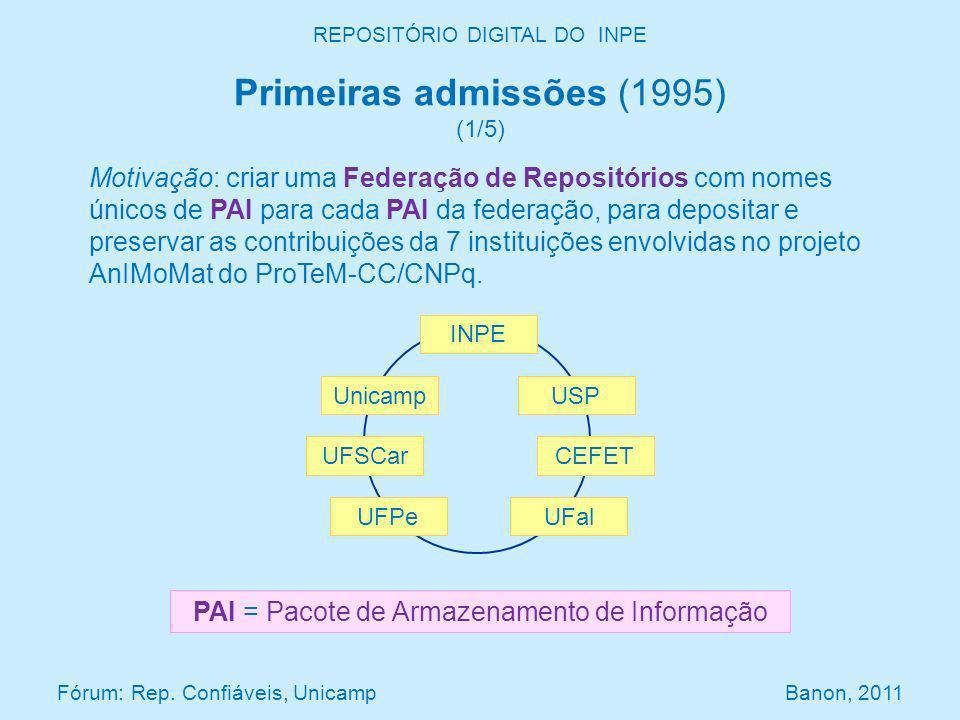 Motivação: criar uma Federação de Repositórios com nomes únicos de PAI para cada PAI da federação, para depositar e preservar as contribuições da 7 instituições envolvidas no projeto AnIMoMat do ProTeM-CC/CNPq.