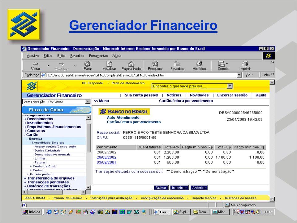 FERRAMENTAS DE CONTROLE  VCORP VCORP  GERENCIADOR FINANCEIRO BB GERENCIADOR FINANCEIRO BB