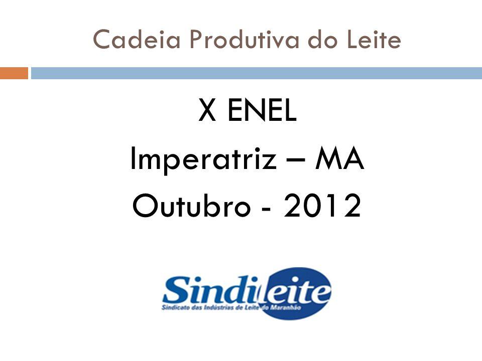 Cadeia Produtiva do Leite X ENEL Imperatriz – MA Outubro - 2012