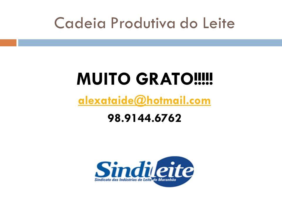 Cadeia Produtiva do Leite MUITO GRATO!!!!! alexataide@hotmail.com 98.9144.6762