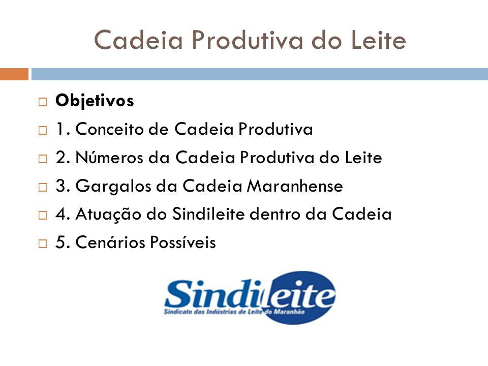 Cadeia Produtiva do Leite Conceito de Cadeia Produtiva 1. Primário 2. Secundário 3. Terciário