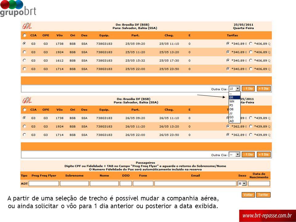 Reservas emitdas ou remitidas direto no site da companhia aérea poderão ser inseridas no portal através da ferramenta Inclusão de PNR.