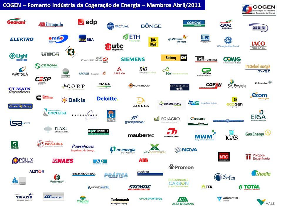 COGEN – Fomento Indústria da Cogeração de Energia – Membros Abril/2011