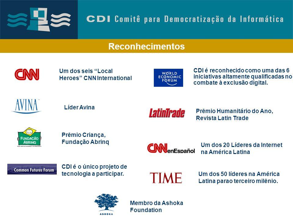 Reconhecimentos Prêmio UNESCO 2002, Comunicação e Informação Tecnologia Social Efetiva Fundação Banco do Brasil Certificado de qualidade para experiên