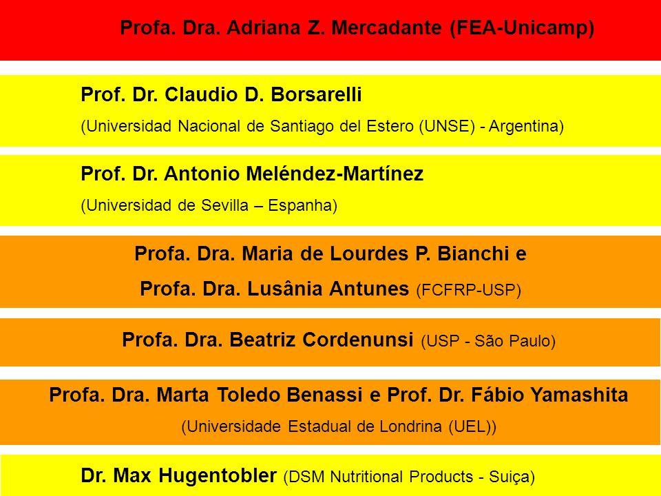 Profa. Dra. Adriana Z. Mercadante (FEA-Unicamp) Prof. Dr. Claudio D. Borsarelli (Universidad Nacional de Santiago del Estero (UNSE) - Argentina) Dr. M