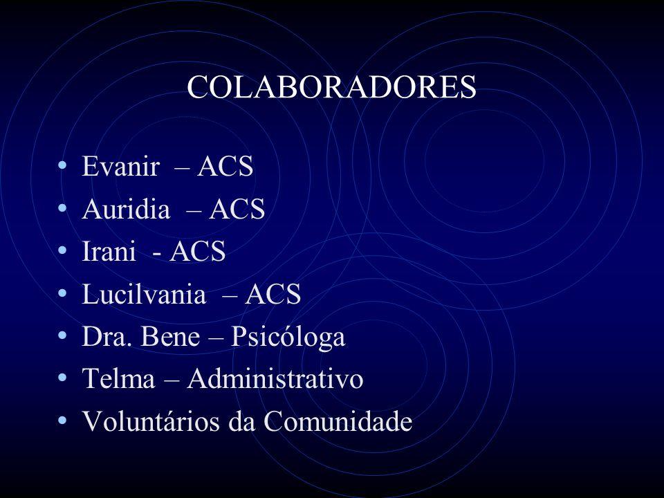 COLABORADORES Evanir – ACS Auridia – ACS Irani - ACS Lucilvania – ACS Dra.