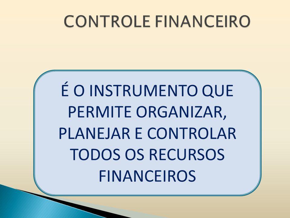 É O INSTRUMENTO QUE PERMITE ORGANIZAR, PLANEJAR E CONTROLAR TODOS OS RECURSOS FINANCEIROS