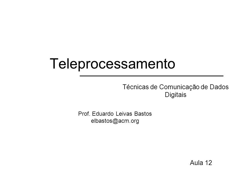 Teleprocessamento Técnicas de Comunicação de Dados Digitais Aula 12 Prof. Eduardo Leivas Bastos elbastos@acm.org