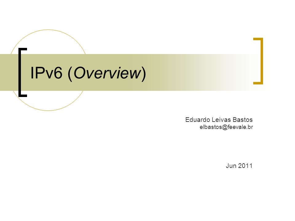 IPv6 - Endereçamento EndereçoSignificado 0:0:0:0:0:0:0:1 (::1) Equivale ao IPv4 127.0.0.0.1 (loopback) 0:0:0:0:0:0:192.168.0.1 (:: 192.168.0.1) Equivale ao IPv4 192.168.0.1 2000::/3Intervalo de endereços Global Unicast FE80::/10Intervalo de endereços Link-Local FF00::/8Intervalo de endereços Multicast 2002::/16Usado no modo 6to4 para permitir o tráfego de IPv6 em redes IPv4 sem a necessidade de túneis 12/31