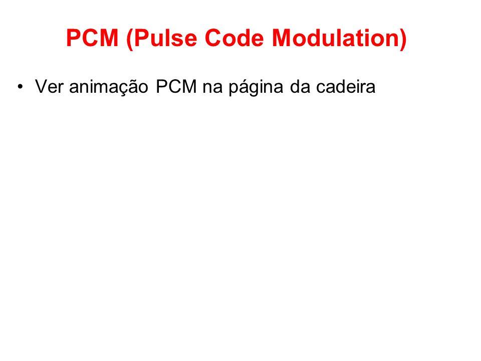 PCM (Pulse Code Modulation) Ver animação PCM na página da cadeira