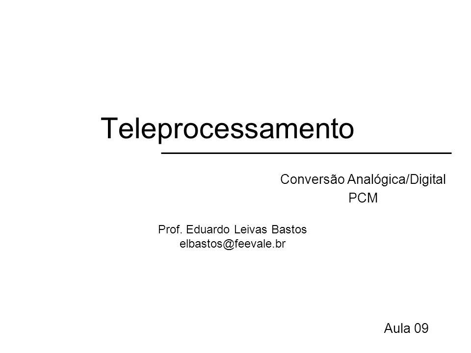 Teleprocessamento Conversão Analógica/Digital PCM Aula 09 Prof. Eduardo Leivas Bastos elbastos@feevale.br