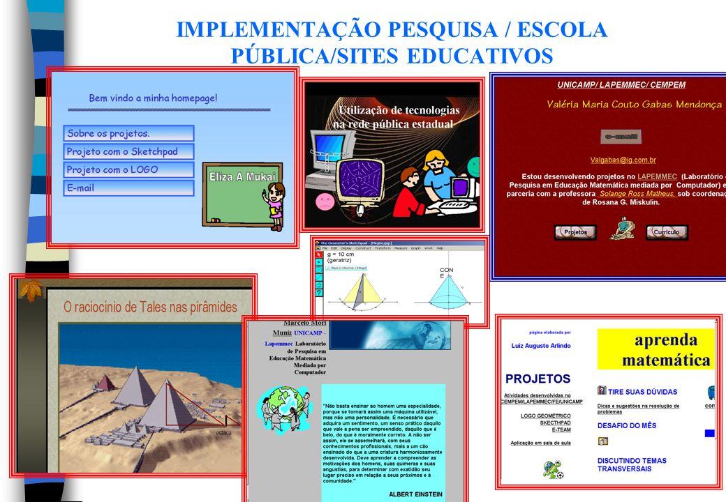 OBJETIVOS / E-TEAM / COMUNICAÇÃO ELETRÔNICA Estabelecer uma interação através de um ambiente computacional de comunicação eletrônica – E-TEAM, no qual