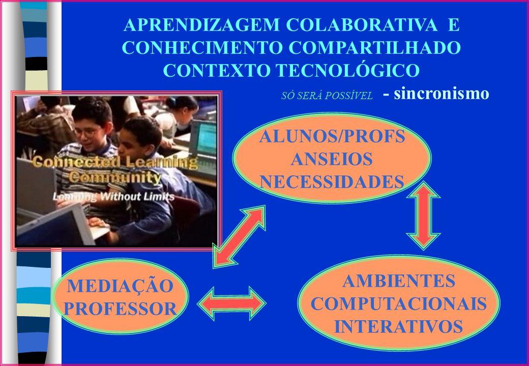 Dimensões da Pesquisa Interatividade dos alunos / professores inseridos em uma plataforma de educação a distância – TelEduc. Aprendizagem colaborativa