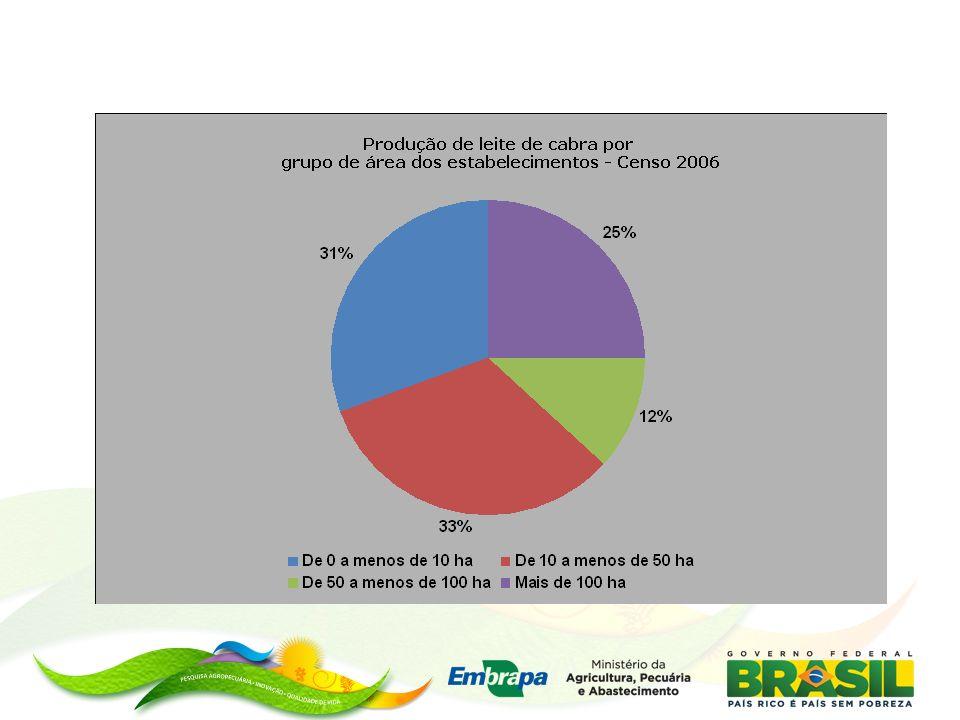 Característica dos sistemas na Paraiba (Dal Monte, 2008) Menos de 50 ha Produtor é o proprietário da terra Rebanho de 20 a 30 cabras Mestiças de raças Saanen e Alpina Produção entre 0,53 e 0,93 litros por dia