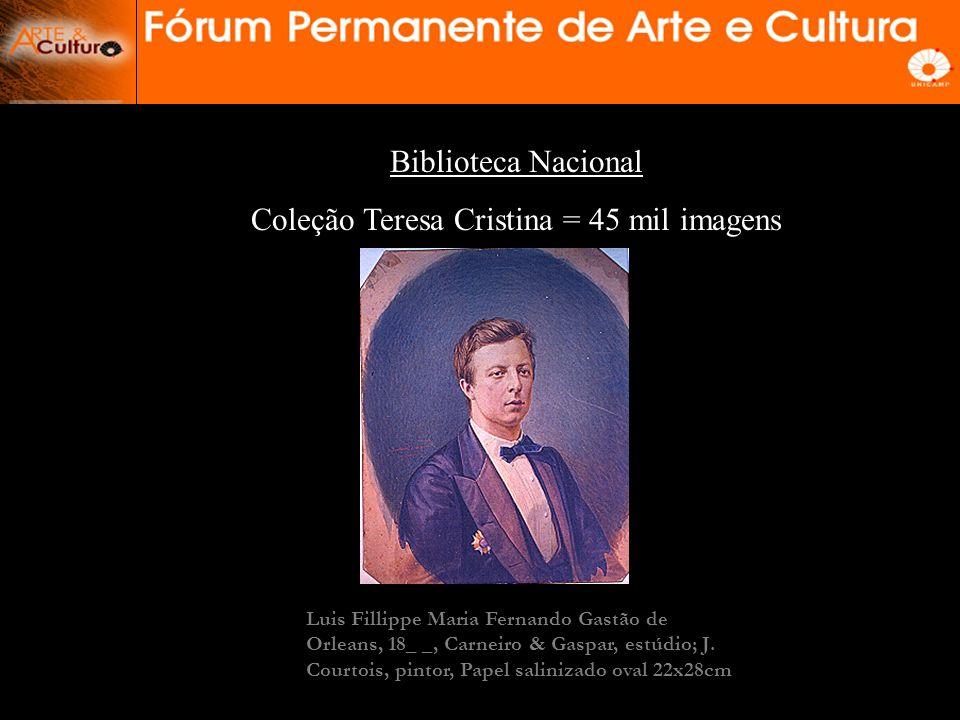 As Coleções Fotográficas no Brasil -Biblioteca Nacional (Col. Teresa Cristina) – RJ -Instituto Moreira Sales ( Col. Gilberto Ferrez) - RJ -Fund. Joaqu