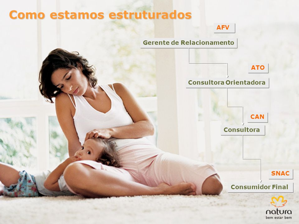 Consultora Gerente de Relacionamento Consumidor Final CAN SNAC AFV Consultora Orientadora ATO Como estamos estruturados