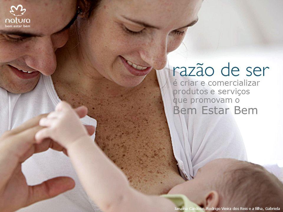 é criar e comercializar produtos e serviços que promovam o Bem Estar Bem Janaína Cardoso, Rodrigo Vieira dos Reis e a filha, Gabriela