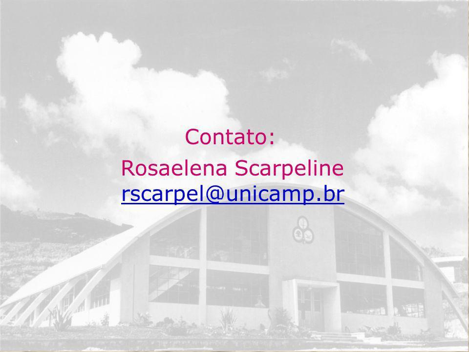 Rosaelena Scarpeline rscarpel@unicamp.br Contato: