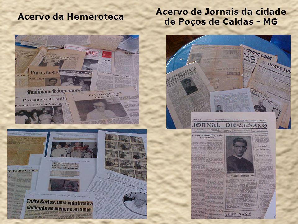 Acervo da Hemeroteca Acervo de Jornais da cidade de Poços de Caldas - MG