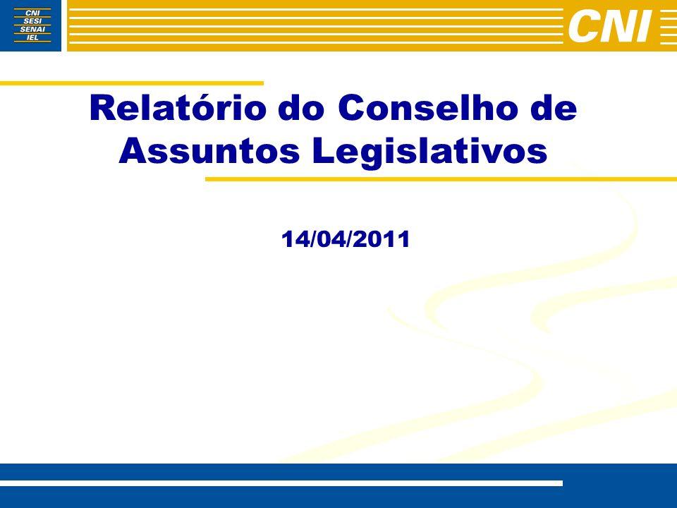Relatório do Conselho de Assuntos Legislativos 14/04/2011