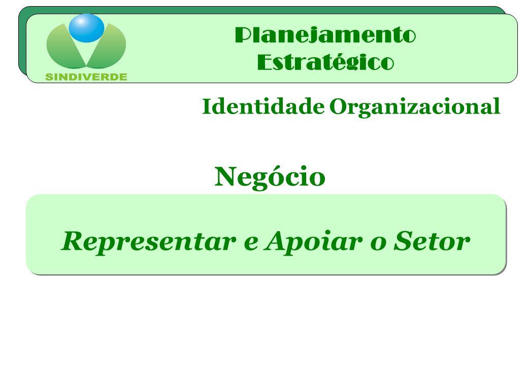 Identidade Organizacional Representar e Apoiar o Setor Negócio Planejamento Estratégico