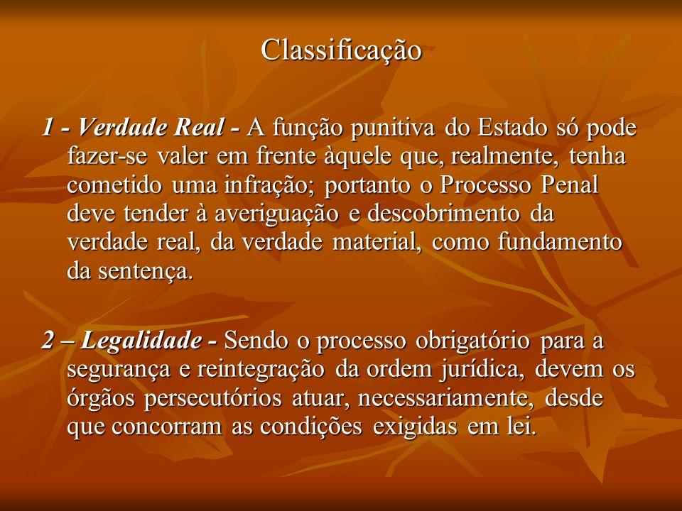 Classificação 1 - Verdade Real - A função punitiva do Estado só pode fazer-se valer em frente àquele que, realmente, tenha cometido uma infração; port
