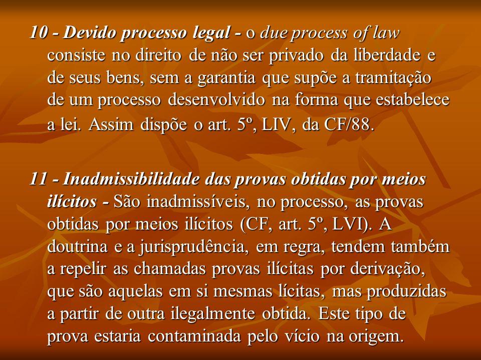 12 – Inocência - Este princípio está consagrado no art.