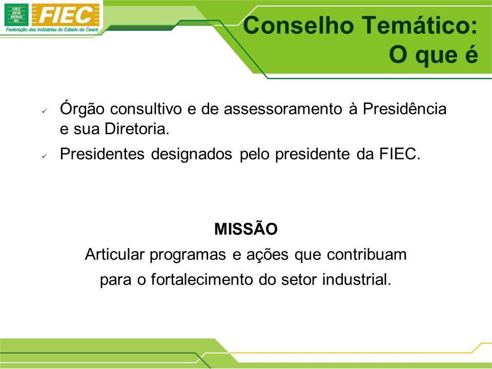 Conselho Temático: O que é Órgão consultivo e de assessoramento à Presidência e sua Diretoria.
