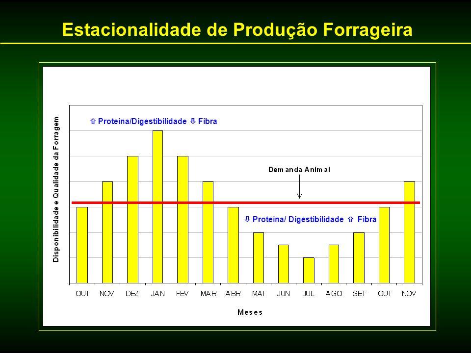 Estacionalidade de Produção Forrageira Proteína/Digestibilidade Fibra