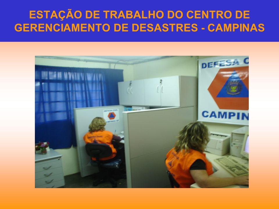 ESTAÇÃO DE TRABALHO DO CENTRO DE GERENCIAMENTO DE DESASTRES - CAMPINAS