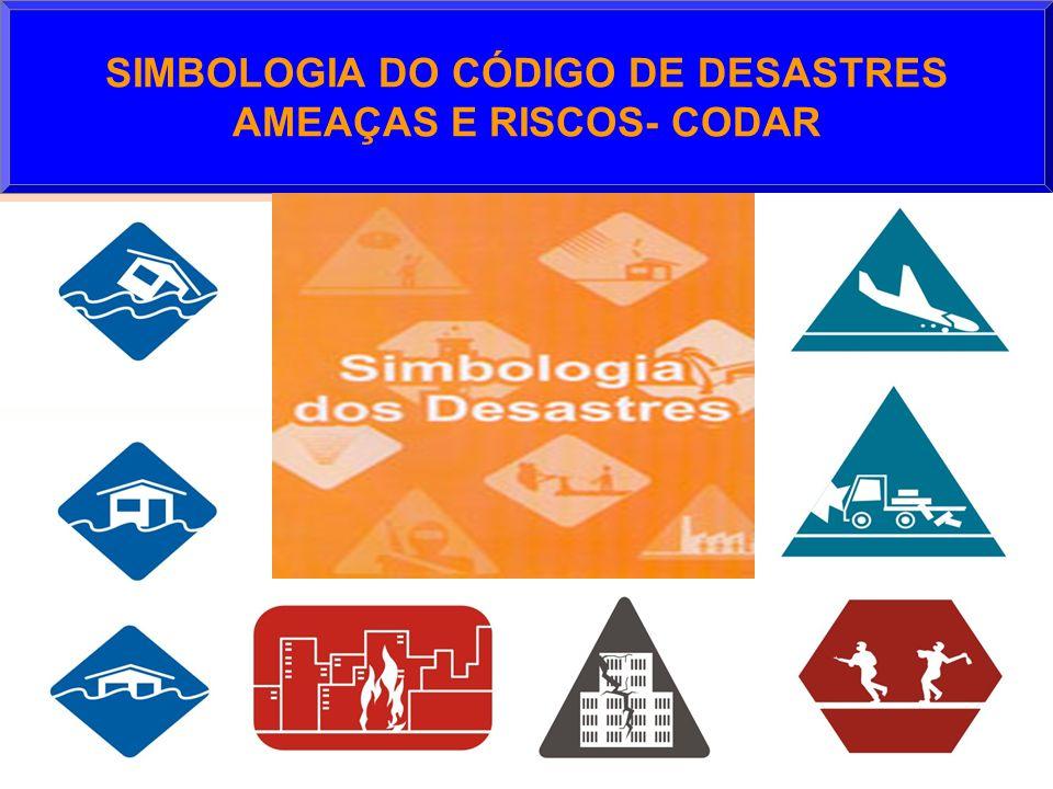 SIMBOLOGIA DO CÓDIGO DE DESASTRES AMEAÇAS E RISCOS- CODAR