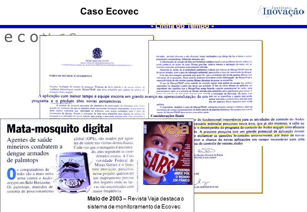 Janeiro de 2003 – Experimentos em larga escala para controle e monitoramento na região da Pampulha em Belo Horizonte O pesquisador tentou, em vão, lev