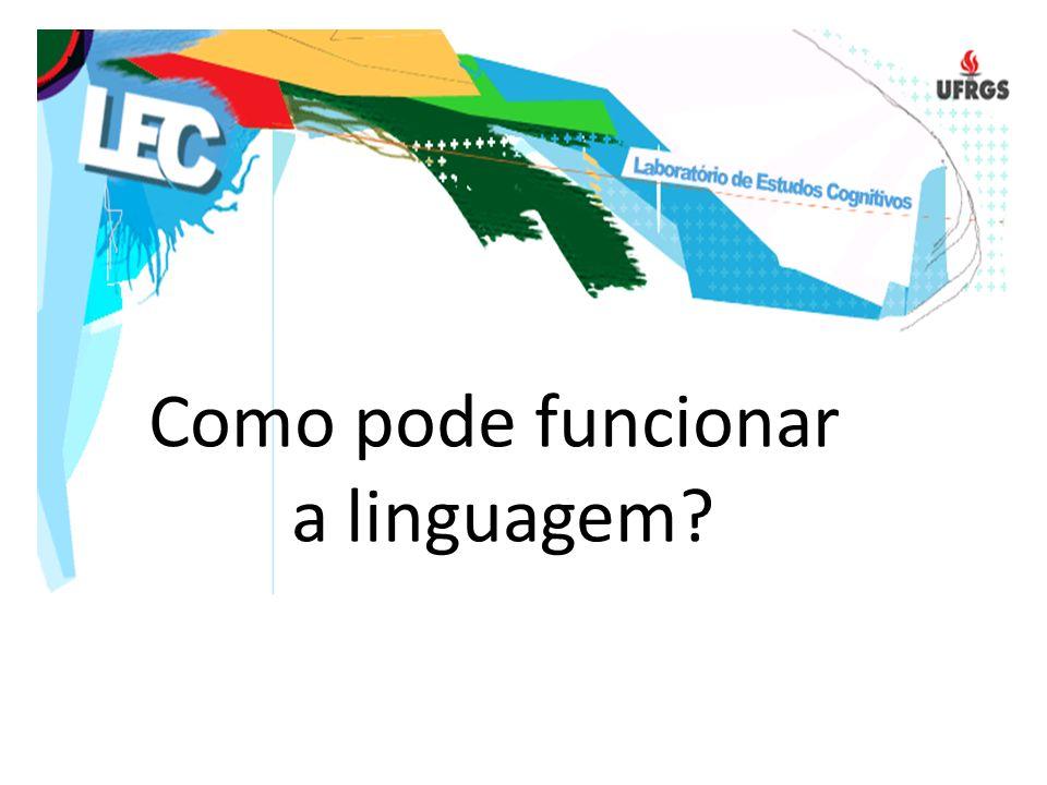 Como pode funcionar a linguagem?