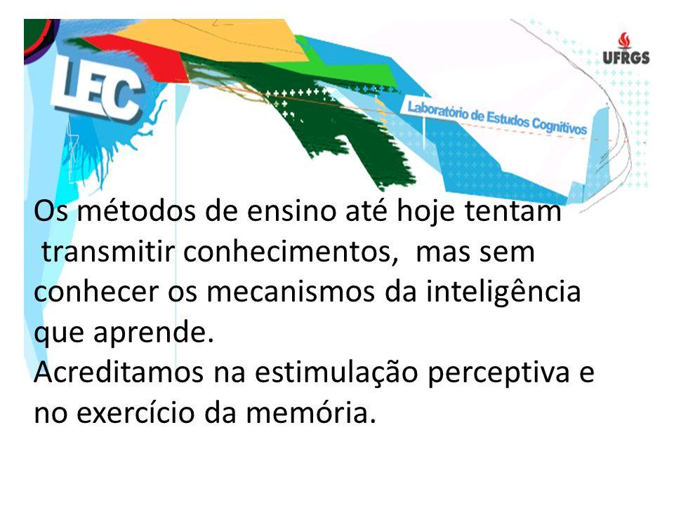 Os métodos de ensino até hoje tentam transmitir conhecimentos, mas sem conhecer os mecanismos da inteligência que aprende.