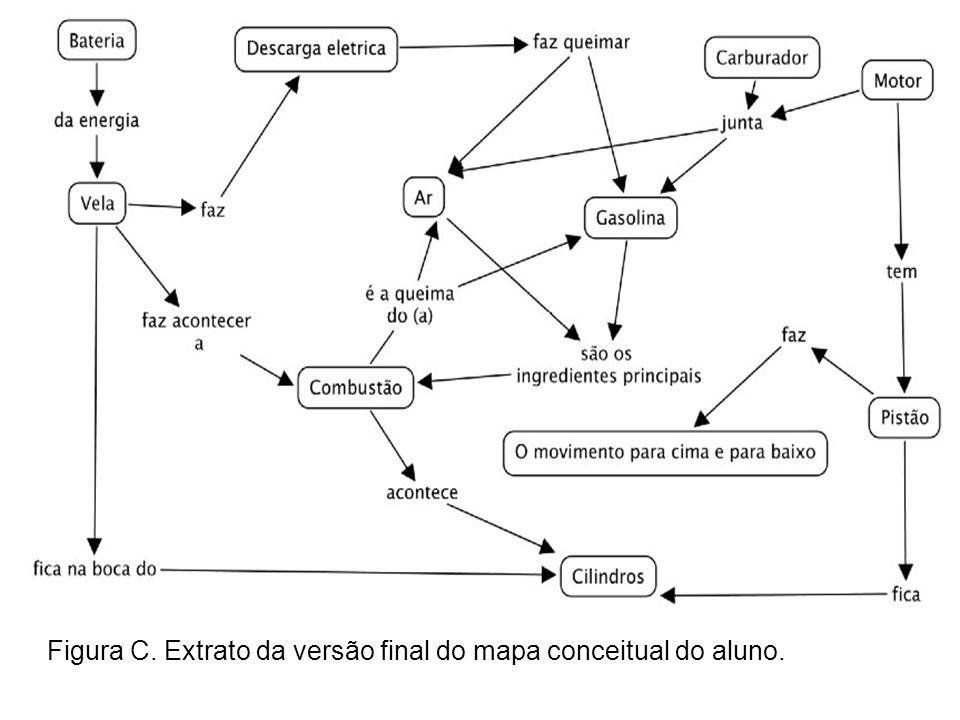 Figura C. Extrato da versão final do mapa conceitual do aluno.