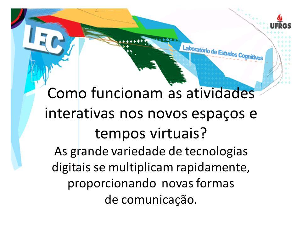 Como funcionam as atividades interativas nos novos espaços e tempos virtuais.