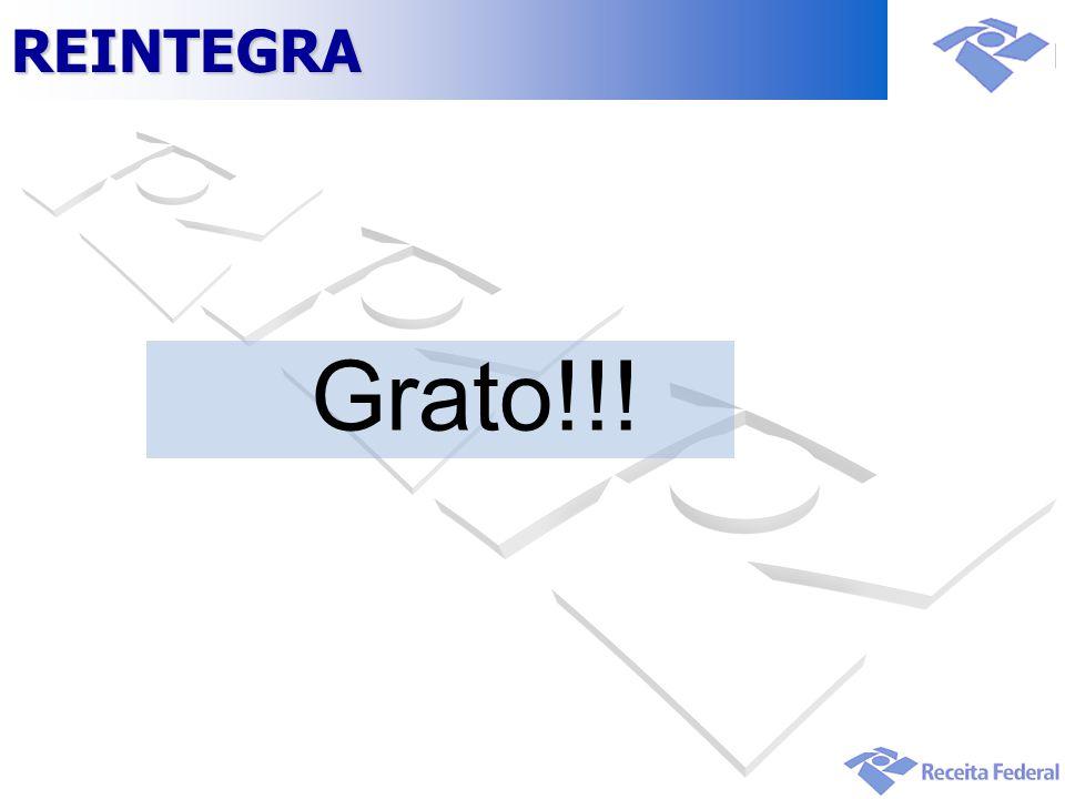Grato!!!REINTEGRA