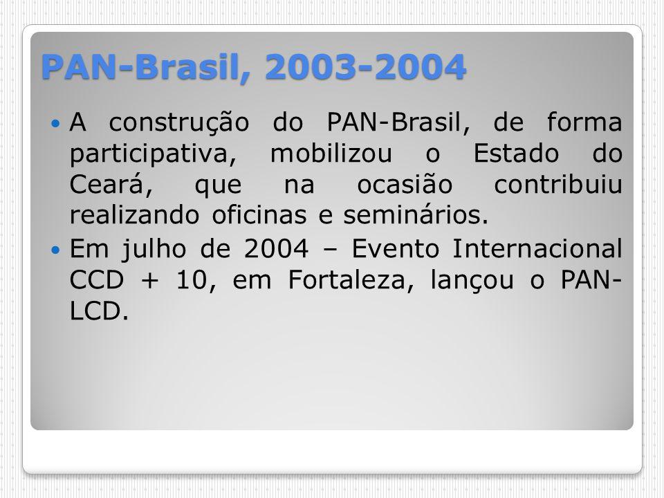PAN-Brasil, 2003-2004 A construção do PAN-Brasil, de forma participativa, mobilizou o Estado do Ceará, que na ocasião contribuiu realizando oficinas e