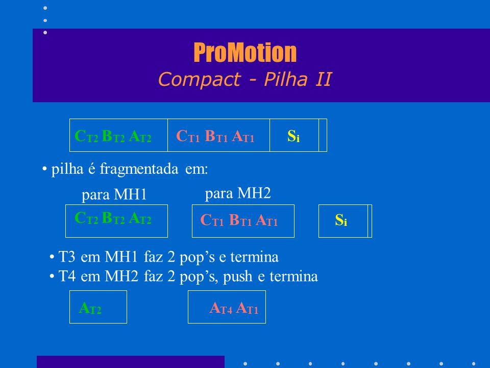 ProMotion Compact - Pilha II C T2 B T2 A T2 C T1 B T1 A T1 S i pilha é fragmentada em: C T1 B T1 A T1 S i para MH2 para MH1 C T2 B T2 A T2 A T2 T3 em