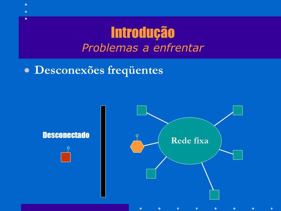 Desconexões freqüentes Desconectado Rede fixa Introdução Problemas a enfrentar