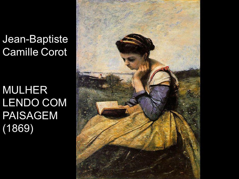 Jean-Baptiste Camille Corot MULHER LENDO COM PAISAGEM (1869)