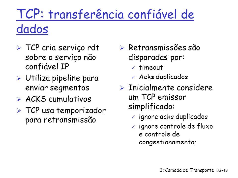 3: Camada de Transporte3a-48 Exemplo estimativa RTT