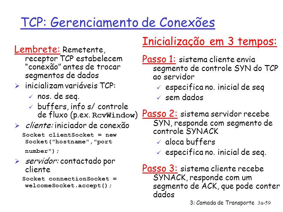 3: Camada de Transporte3a-58 Controle de Fluxo TCP: como funciona .