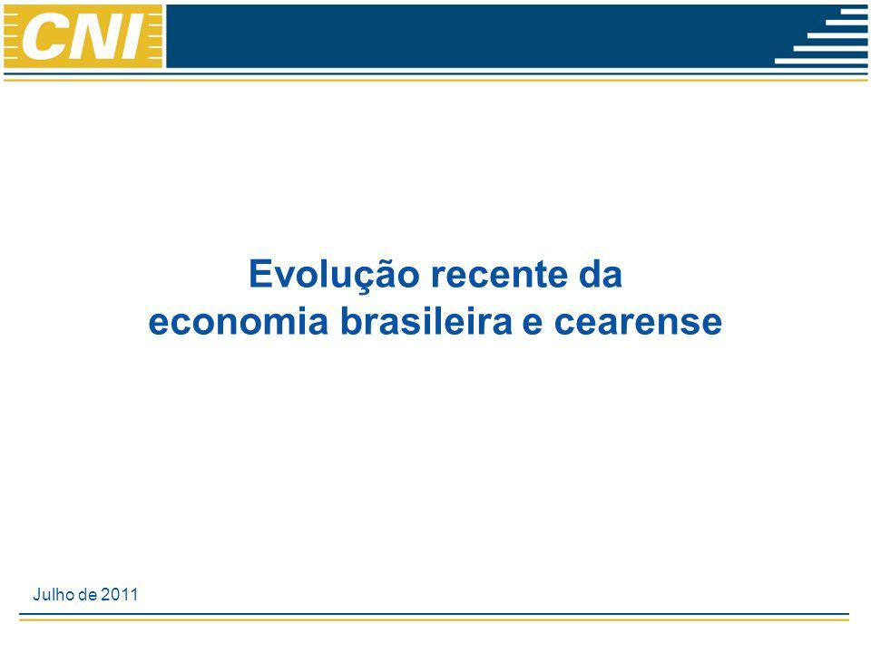 Evolução recente da economia brasileira e cearense Julho de 2011